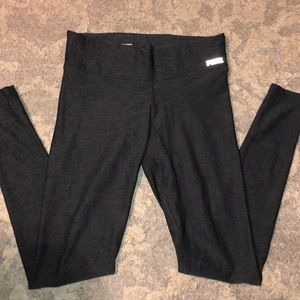 Dark gray and black legging